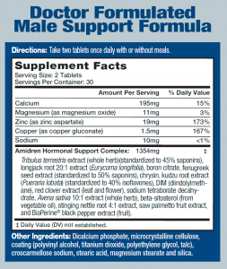 ANDRO-T SUPPLEMENT FACTS